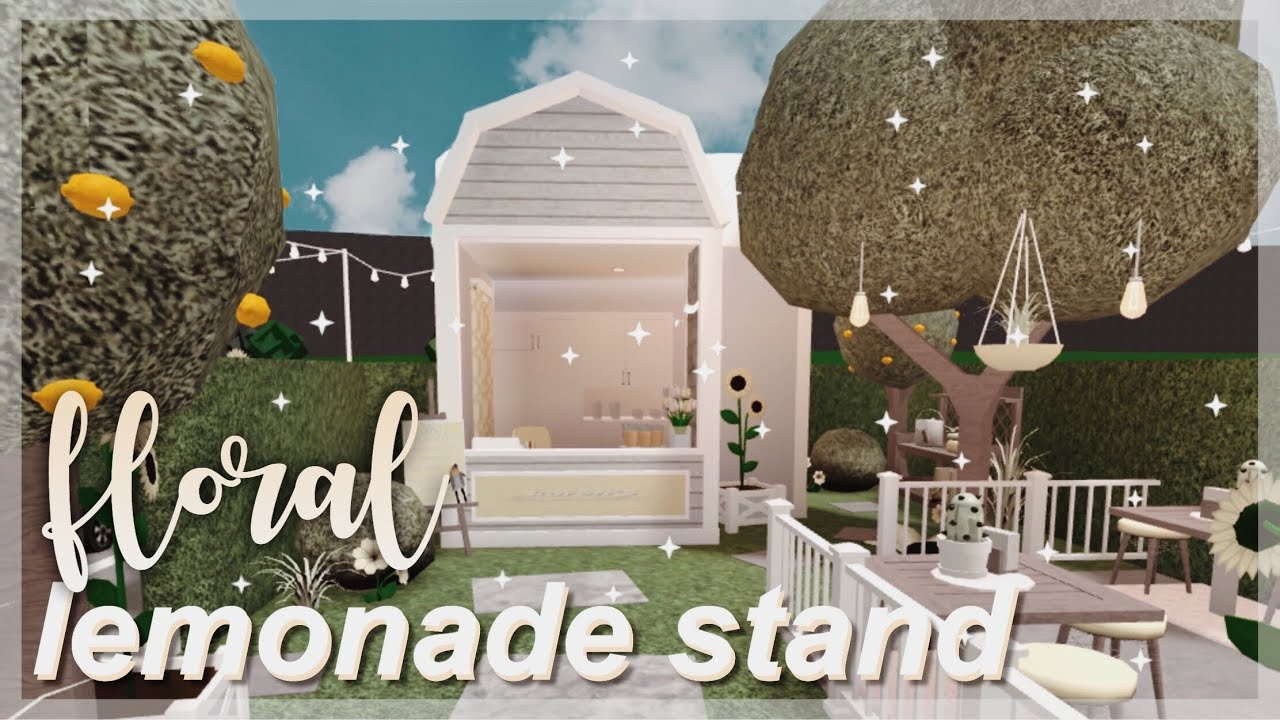Bloxburg Floral Lemonade Stand Youtube