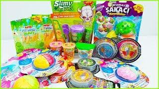 Slimy Koleksiyonu Challenge Slimy Sürpriz Hediyeler Brain Putty Mega Slime Vak Vak TV