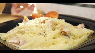 Рецепт пасты с грудинкой и грибами - Брестский мясокомбинат