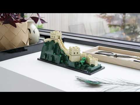 The Great Wall of China buildable in LEGO bricks from LEGO Architecture