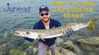 How to fight and land fish -  morning fishing in Dubai