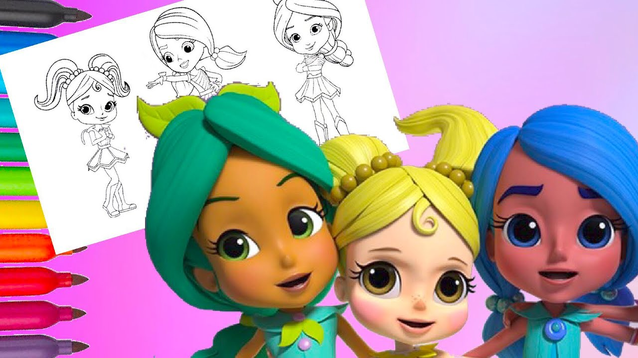Anna Banana Bonnie Blueberry Pepper Mintz Rainbow Rangers Coloring Pages For Kids Youtube