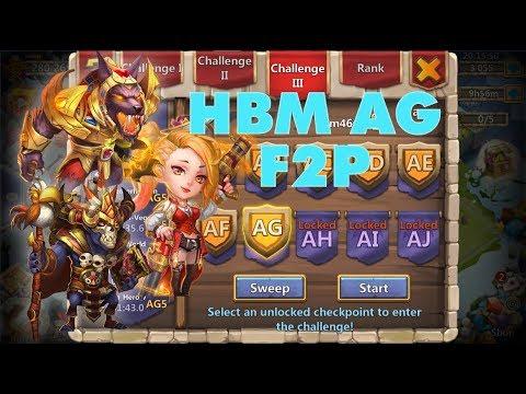 Castle Clash: HBM Wave AG F2P ➥ Victory!! (+Setup)