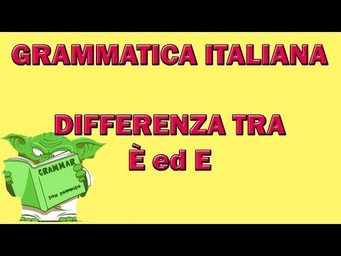 82. Grammatica italiana - Differenza tra