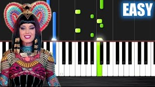 Repeat youtube video Katy Perry - Dark Horse - EASY Piano Tutorial by PlutaX