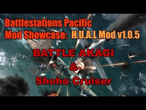 Battlestations Pacific Mod Showcase : BATTLE AKAGI and Shoho Cruiser