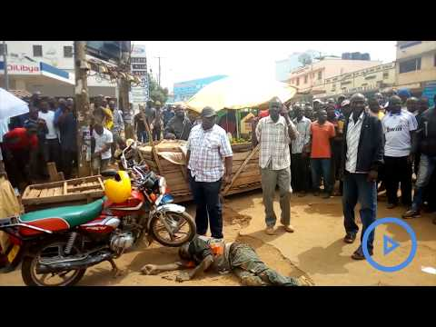 Police in Trans Nzoia rescue a motorcycle thief from being lynched