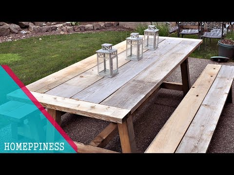 💗  RUSTIC STYLE 💗 30+ Wood Outdoor Dining Sets | TABLE, CHAIRS and BENCH