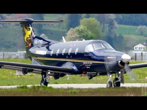 Pilatus PC-12 Air Corviglia Take-Off at Bern