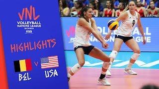 Belgium Vs. USA -  Highlights Women | Week 1 | Volleyball Nations League 2019