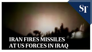 Iran fires missiles at US forces in Iraq