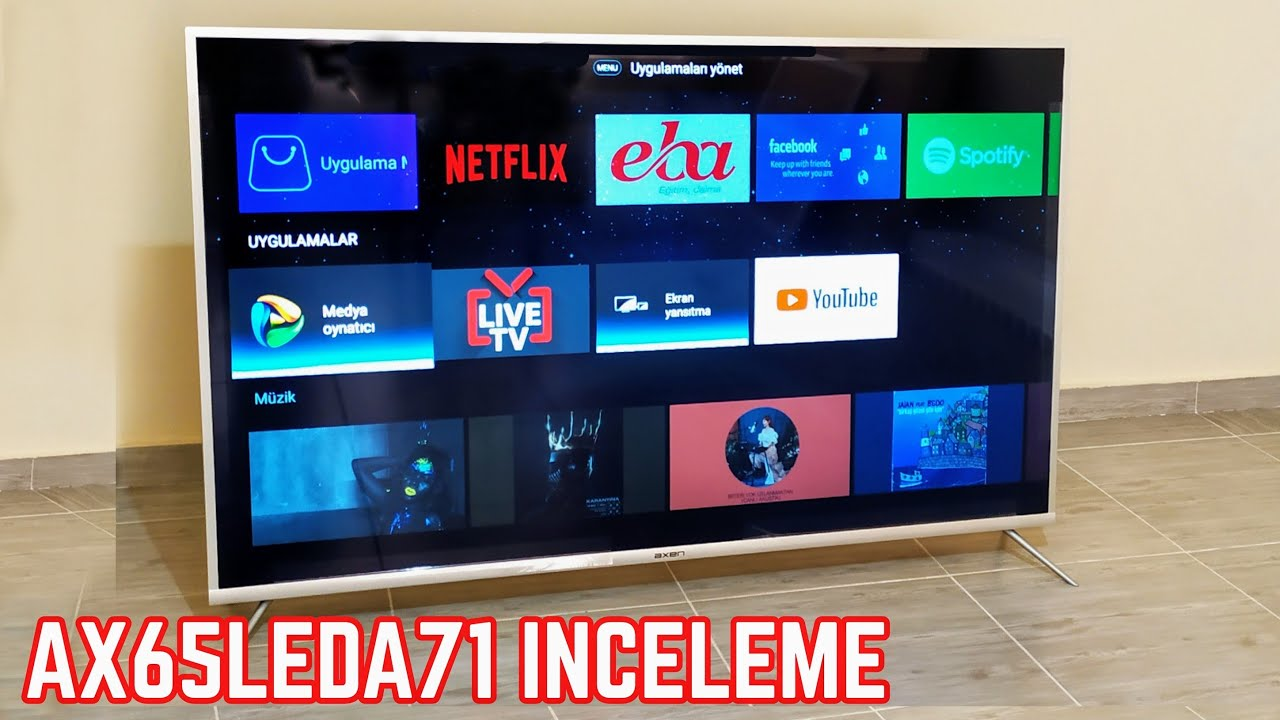AXEN AX65LEDA71 - 165 EKRAN DEV ANDROİD TV