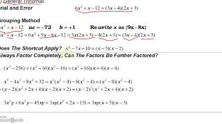 3_11 Summary of Factoring Guidelines