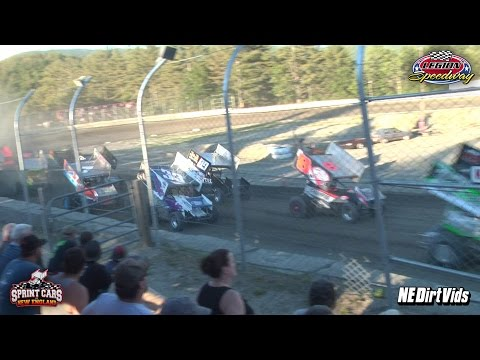 Highlights: 1st Feature - Sprint Cars of New England | Legion  Speedway 6 17 2016