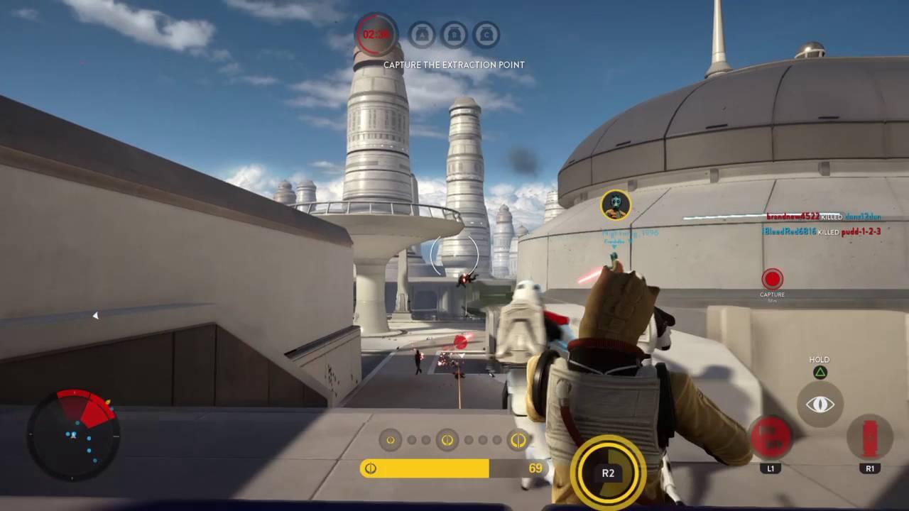 Star Wars Battlefront Bossk Gameplay On Bespin