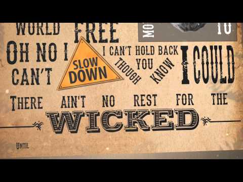 Cage The Elephant - Ain't no rest for the wicked [Kinetic Typography]