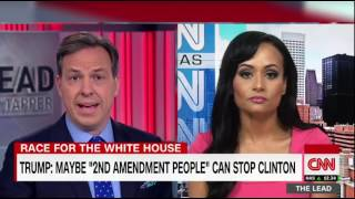 Katrina Pierson and Jake Tapper go back and forth over '2nd amendment people' stopping Clinton