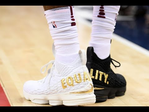 Lebron James and his sneakers of equality