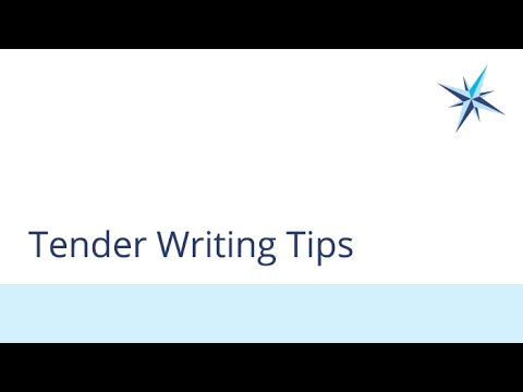 Tender Writing Tips