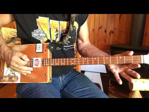 Simple Man picking pattern for 3 string Cigar Box Guitars