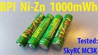 Тест аккумуляторов BPI Ni Zn 1.6V 1000mWh на SkyRC MC3000