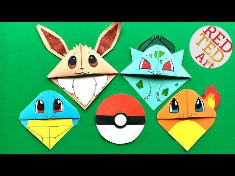 5  MUST TRY Pokemon Bookmark Corner DIY - Eevee & Friends - Cute & Easy Paper DIYs