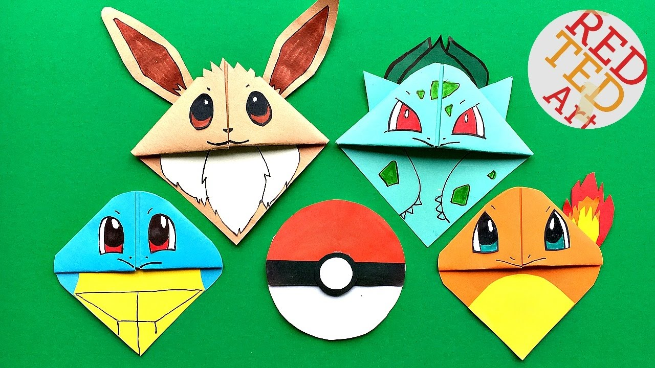 5 MUST TRY Pokemon Bookmark Corner DIY