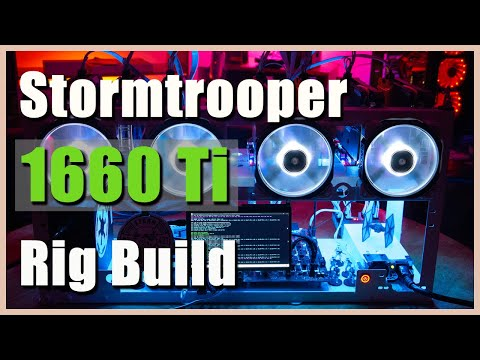 7x 1660 Ti Stormtrooper Themed Crypto Mining Rig | How To Build A Crypto GPU Mining Rig | Star Wars