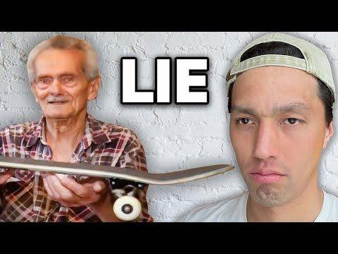 The World's OLDEST Skateboarder Is A FRAUD!