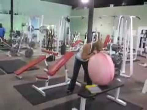 Hot Blowing In Gym