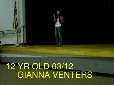 "Gianna Venters singing ""Someone Like You"" at the Osceola Middle School Talent Show"