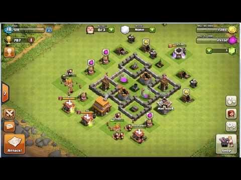 clash of clans tutorial townhall 4 (Bahasa Indonesia)   Tips Looting/Farming