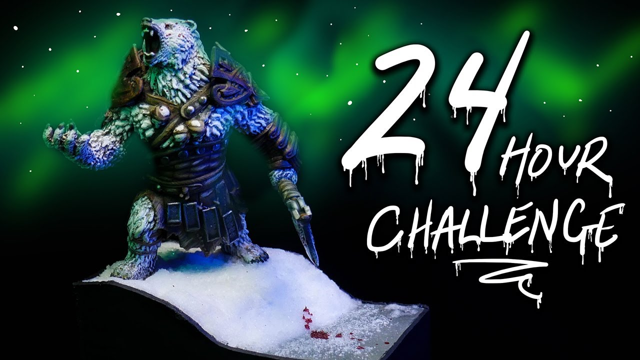 24 HOUR MINI DIORAMA CHALLENGE | Churchill the Killer Polar Bear