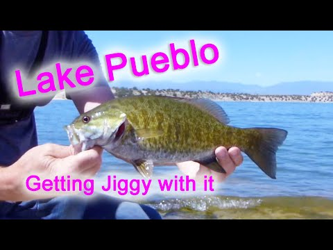 Shore Fishing Lake Pueblo Reservoir Jigging For Walleye Bass And More