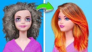 चतुर बार्बी हैक्स बनाम डिज्नी राजकुमारी हैक्स चुनौती! 13 गुड़िया हैक्स और क्राफ्ट्स।