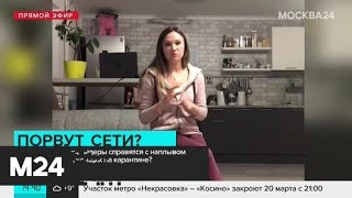 Справятся ли интернет-провайдер с наплывом сидящих на карантине пользователей - Москва 24