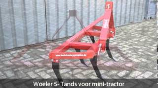 Woeler 5- Tands voor mini-tractor