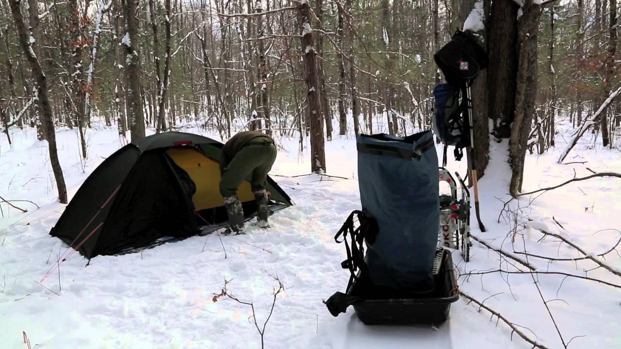 Winter Camp Set up - YouTube
