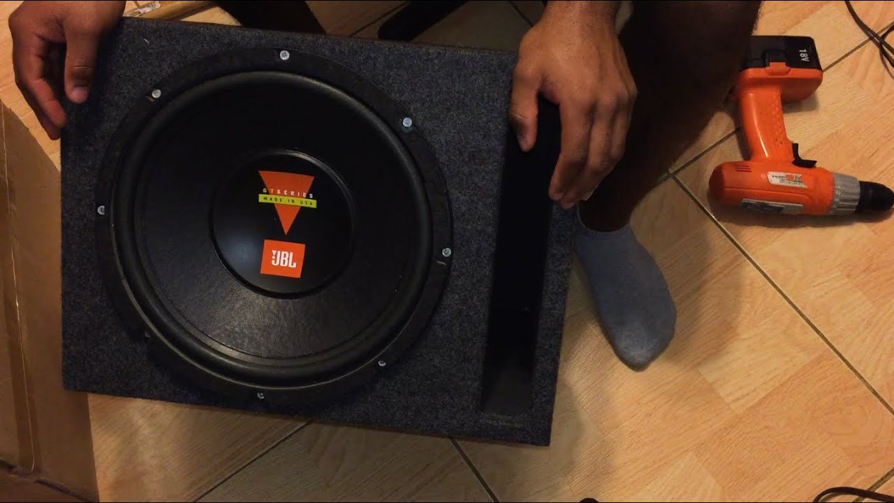 how to build a subwoofer - 12 inch jbl sub box replacement - youtube