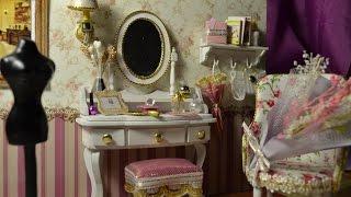 мебель (кукольная миниатюра). Кресло,пуфик,туалетный столик,полочка