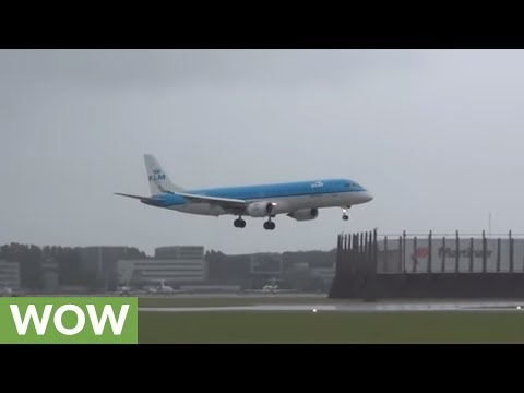 Plane struck by severe winds pulls off incredible landing