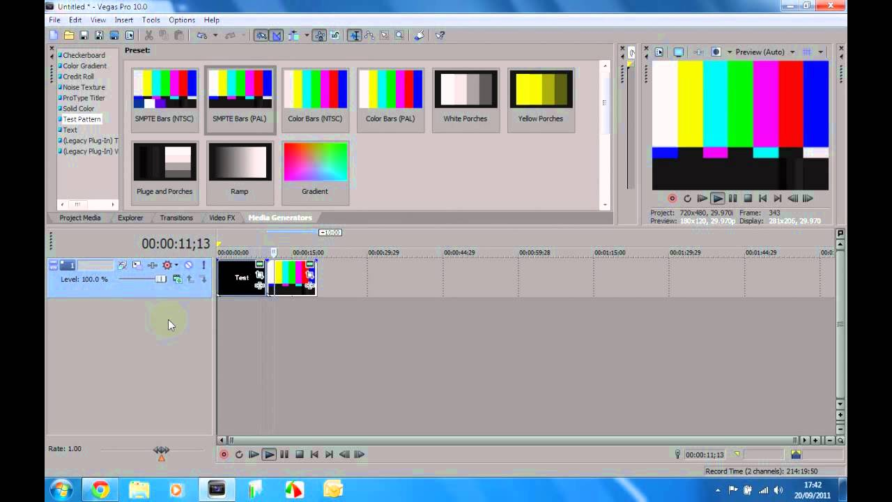 sony vegas testversion
