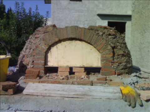 Costruzione forno a legna brick wood fired oven parte for Forno a legna per pizza fai da te