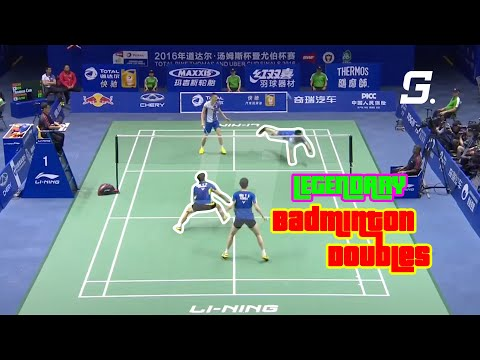 Best Legendary Doubles Badminton Rallies of all time | Best Badminton Rallies | God of Sports