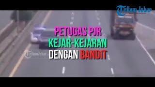 Gambar cover Seperti Film Action, Petugas PJR Tol Cipularang Kejar-kejaran dengan Bandit Pencuri Ban