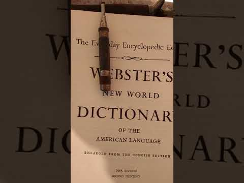 51 U.S. States Residue 1960 Webster's New World Dictionary