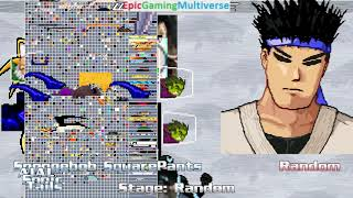 Sega Characters And SpongeBob SquarePants VS Kung Fu Man In A MUGEN Match / Battle / Fight