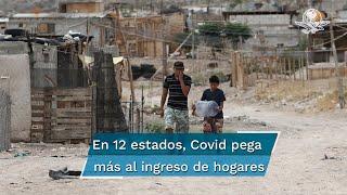 Mientras la percepción en familias tuvo una caída nacional de 5.8%, en Jalisco, CDMX y QRoo las contracciones variaron entre 14.1% y 23.7%; crisis sanitaria impactó sobre todo a zonas urbanas: Inegi
