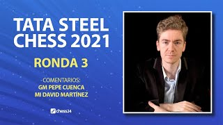 TATA STEEL 2021 (3): Firouzja vs David Antón