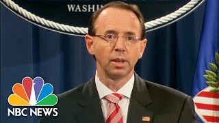Rod Rosenstein Details The Extent Of Russians' Hacking In 2016 Election | NBC News